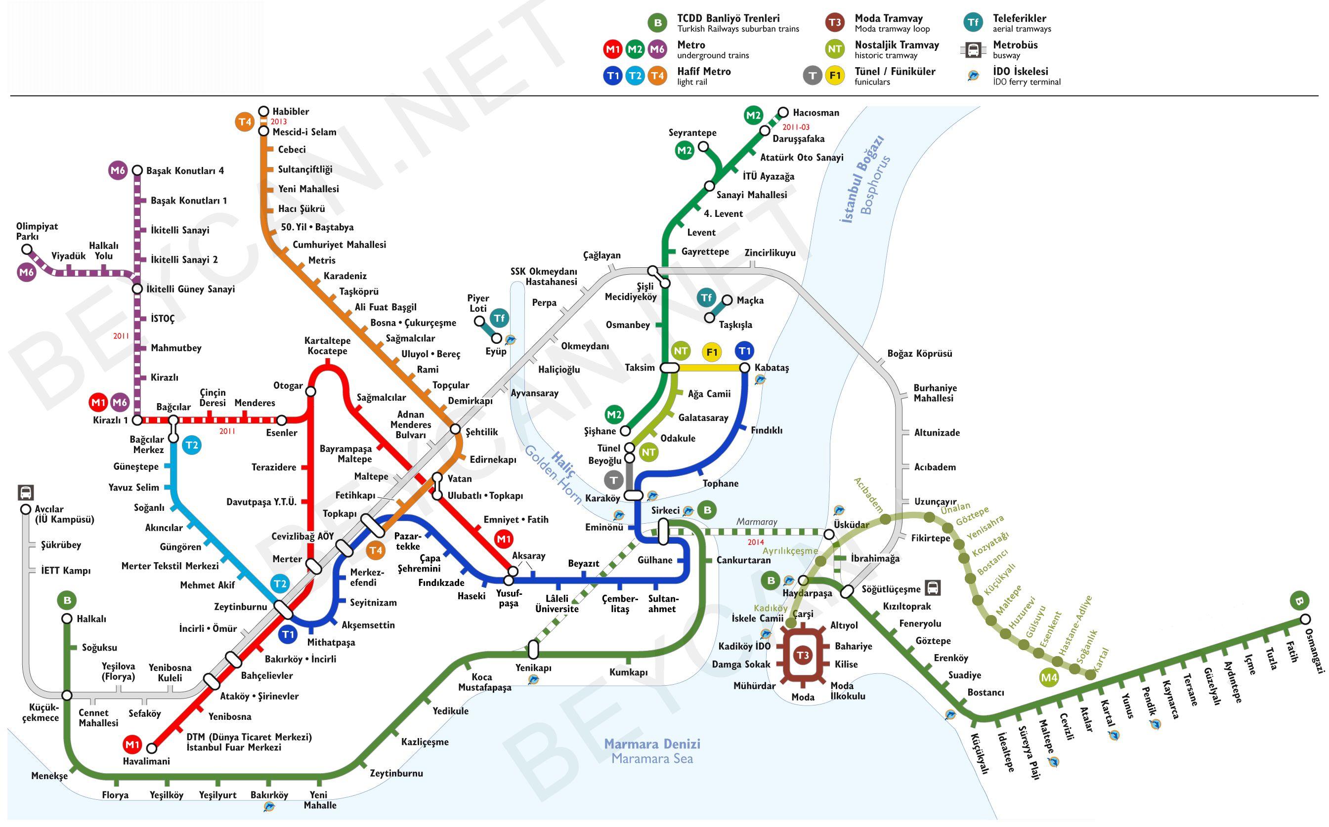 istanbul metro map 2017 pdf